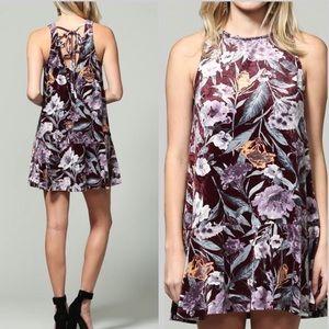 Dresses & Skirts - Velvet Floral Bohemian Summer Tank Dress